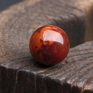 22mm俏色南红圆珠
