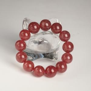 草莓晶單圈手串