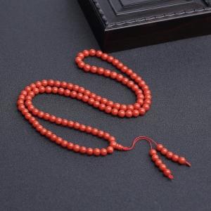 5.5mm沙丁朱红珊瑚108佛珠