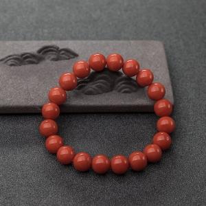9mm沙丁橘紅珊瑚手串