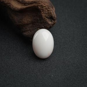 MISU白色珊瑚蛋面戒面