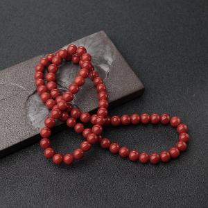 7mm沙丁正红珊瑚多圈手串