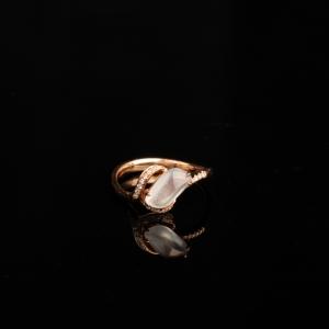 18k高冰种无色翡翠戒指