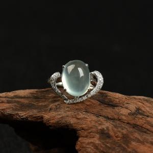 18k葡萄石戒指