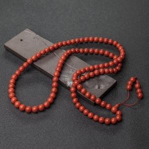 9.5mm沙丁朱红珊瑚108佛珠