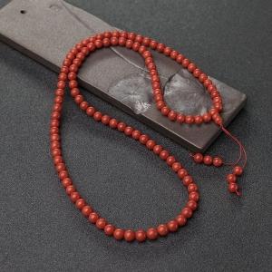 6.5mm沙丁朱红珊瑚108佛珠