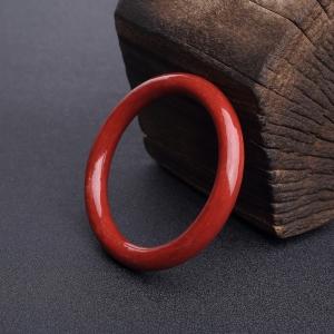 58.5mm沙丁正红珊瑚拼接圆镯