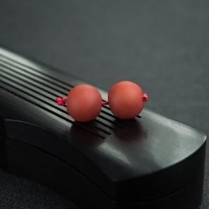 柿子红南红苹果珠(两件)