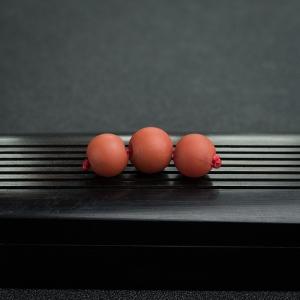 柿子红南红苹果珠(三件)