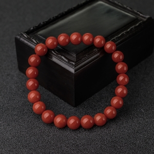 8.5mm沙丁朱红珊瑚单圈手串