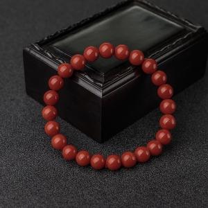 7.5mm沙丁朱紅珊瑚單圈手串