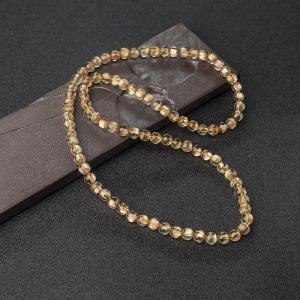 6.5mm鈦金發晶多圈手串