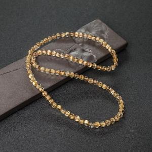 6mm鈦金發晶多圈手串