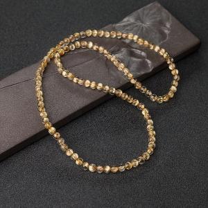 5mm鈦金發晶多圈手串