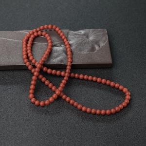 5.5mm柿子红南红珠链