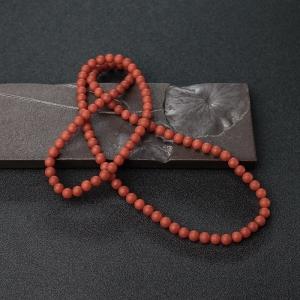 6mm柿子红南红珠链
