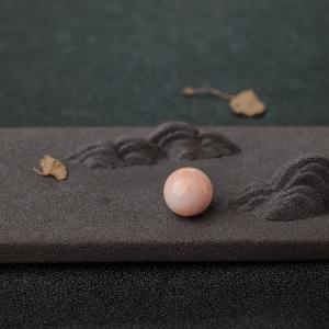 11.5mmMISU粉色珊瑚圆珠