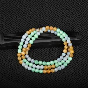 7mm糯种福禄寿翡翠项链