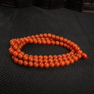 柿子红南红项链
