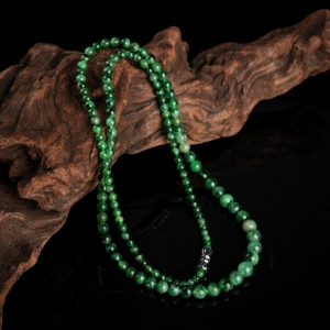 糯種暗綠翡翠塔鏈