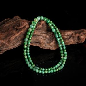 糯种暗绿翡翠塔链