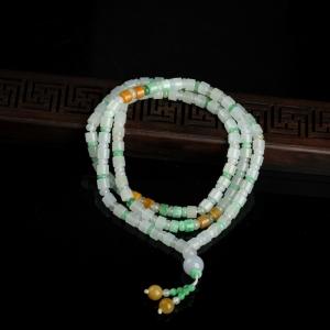 糯種翡翠珠串