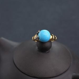 18K金鑲鉆原礦美松戒指