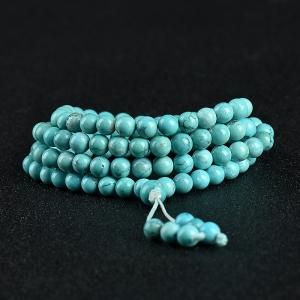 中瓷铁线蓝绿绿松石项链