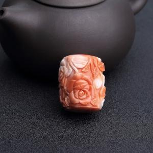 MOMO橘色珊瑚玫瑰花路路通