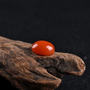 柿子紅南紅戒面