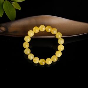 11.8mm雞油黃蜜蠟單圈手串