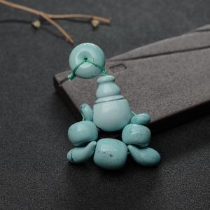 高瓷铁线蓝绿松石配件套装
