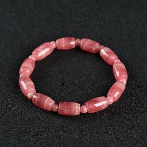 红纹石桶珠单圈手串