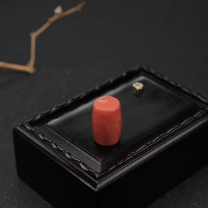 MOMO橘红珊瑚桶珠