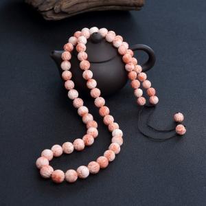 深水粉红珊瑚龙珠塔链