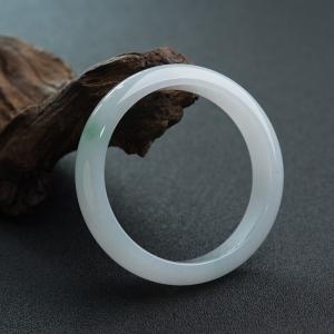 54.5mm糯種飄翠翡翠平安鐲