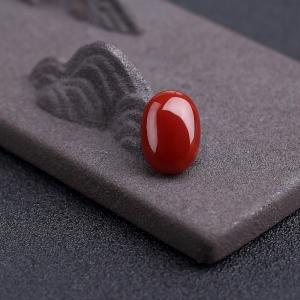 阿卡正红珊瑚戒面