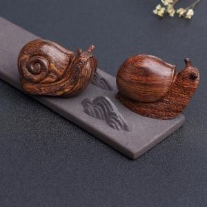 海南黄花梨蜗牛手把件(两件)