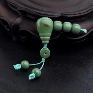 高瓷铁线绿色绿松石配件套装