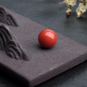 11.5mm沙丁朱红珊瑚圆珠