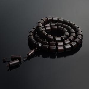 半星小叶紫檀桶珠项链