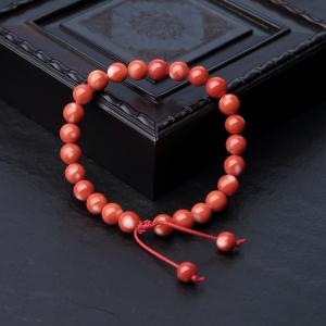 7.5mmMOMO橘色珊瑚单圈手串