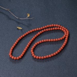 6mm樱桃红南红项链
