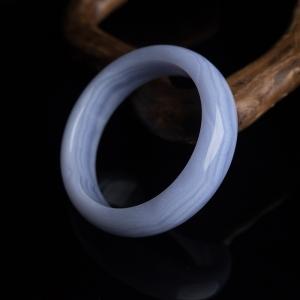 59.5mm蓝玉髓扁镯