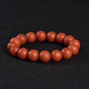 13.2mm柿子红南红单圈手串