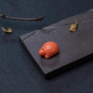 MOMO橘色珊瑚长寿龟背云
