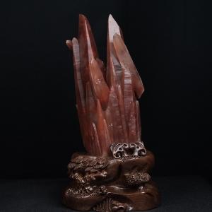 红水晶原石摆件