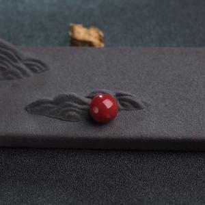 10mm阿卡深红珊瑚圆珠