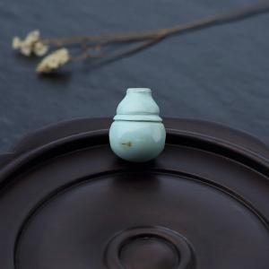 高瓷铁线浅蓝绿松石三通