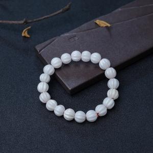 白珊瑚南瓜珠單圈手串